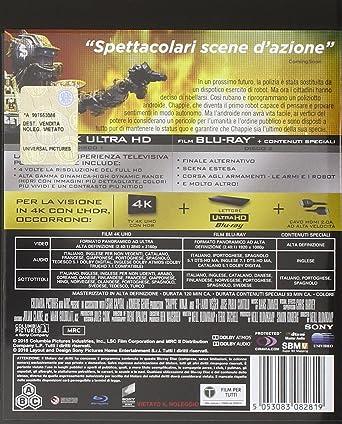 Humandroid - Chappie (4K Ultrahd + Blu-Ray) [Blu-ray]: Amazon.es: Sharlto Copley, Hugh Jackman, Dev Patel, Sigourney Weaver, Neill Blomkamp, Sharlto Copley, Hugh Jackman: Cine y Series TV