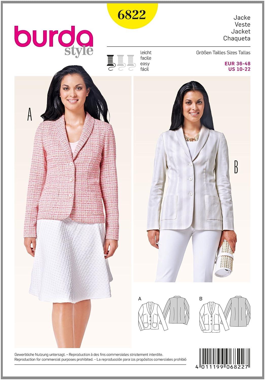 Amazon.com: Burda Easy Ladies Smart Suit Jackets Sewing ...