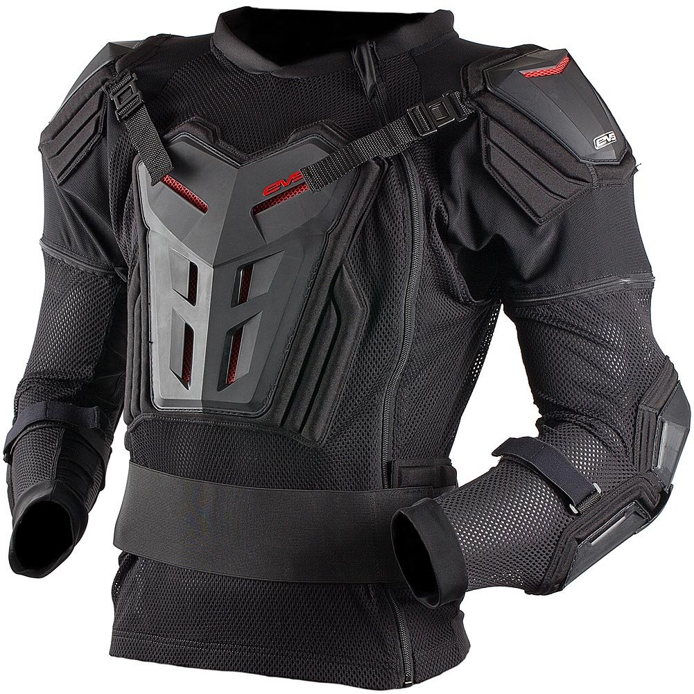 EVS Comp Suit Youth Ballistic Jersey MotoX Motorcycle Body Armor - Black/Medium