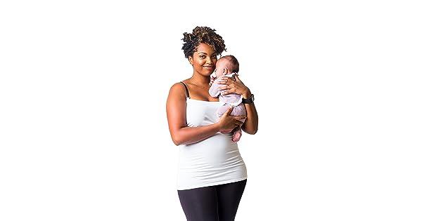 fa52c1a0e285c Undercover Mama Nursing Tank Top - Perfect Breastfeeding Undershirt, White  Med