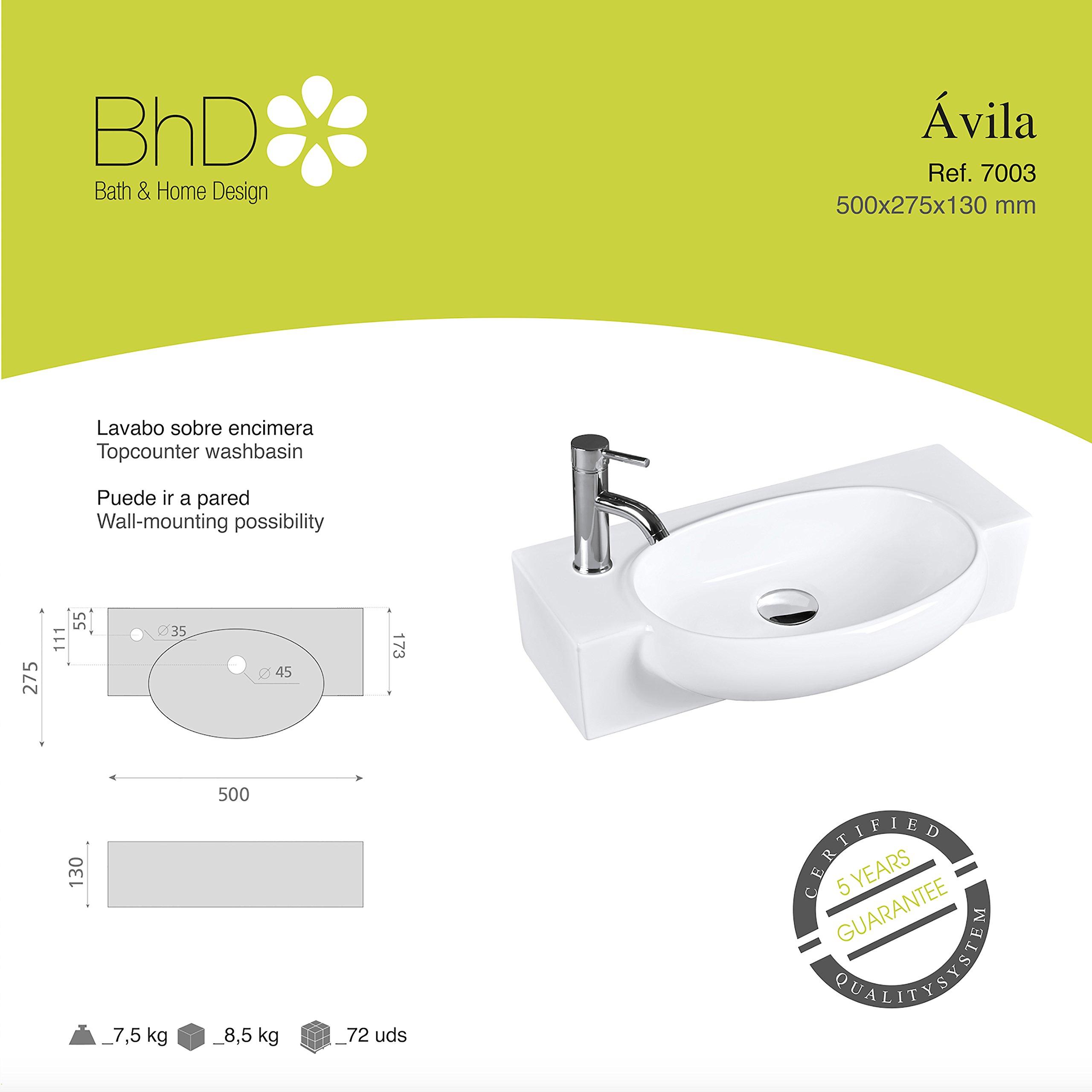 BHD 7003–Ceramic Sink, White