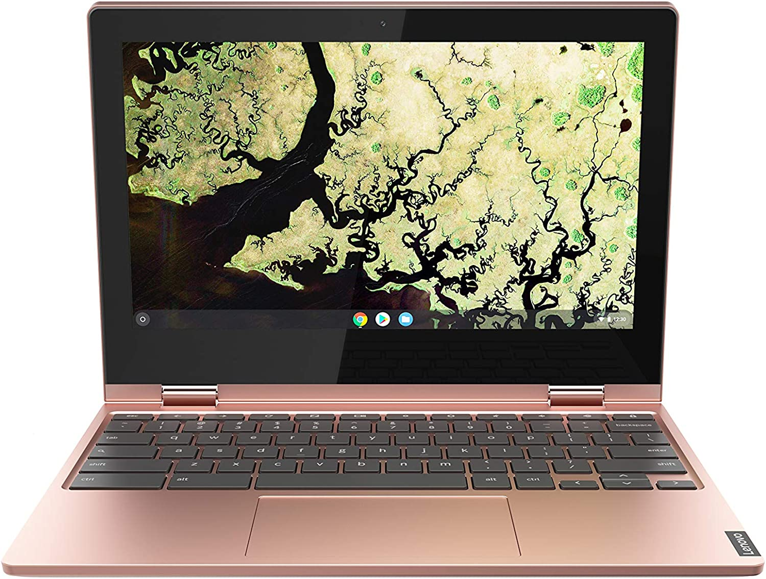 "Lenovo Chromebook C340 Laptop, 11.6"" HD (1366 X 768) Touchscreen Display, Intel Celeron N4000 Processor, 4GB LPDDR4 RAM, 64GB SSD, Intel UHD Graphics 600, Chrome OS, 81TA0007US, Sand Pink"
