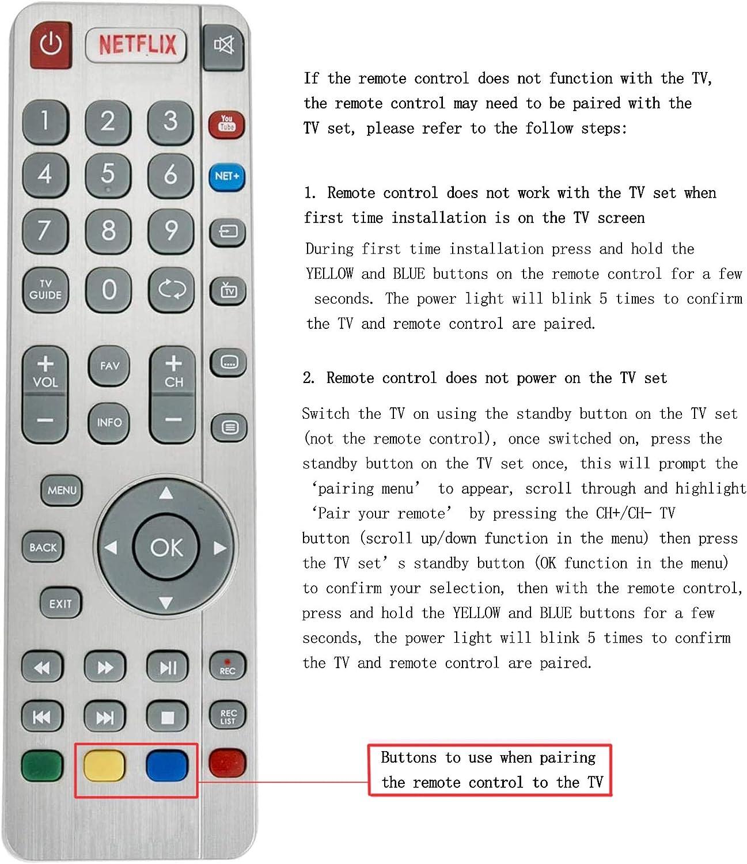 ALLIMITY SHW/RMC/0116 Control Remoto reemplazado por Sharp Aquos UHD 4K Smart 3D TV LC-43CUG8462KS LC-49CUG8461KS LC-55CUG8462KS LC-32CFG6022K LC-32CFG6032E LC-32CFG6351K LC-40CFG6242E: Amazon.es: Electrónica