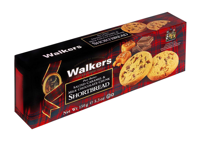 Walkers Shortbread Salted Caramel & Milk Chocolate Chunk Cookies, 5.3 Ounces