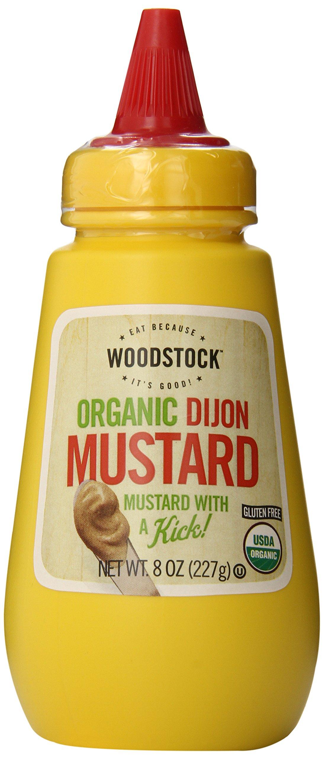 Woodstock Organic Dijon Mustard, 8 Ounce (Pack of 12)