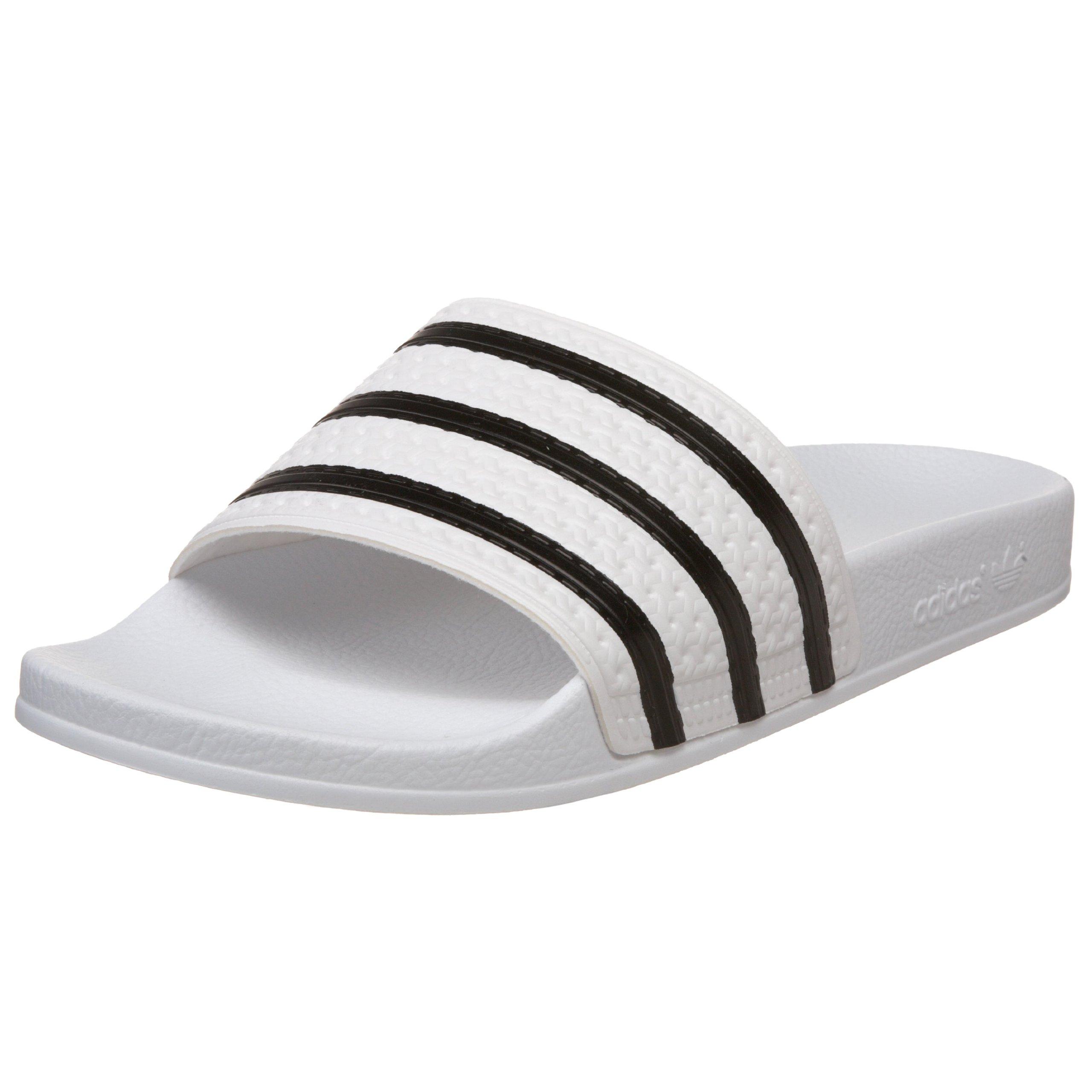 adidas Originals Men's Adilette, White/Black/White, 15 D(M) US