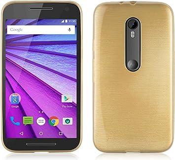 Cadorabo Funda para Motorola Moto G3 en Oro: Amazon.es ...