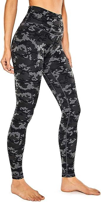 CRZ YOGA Women's Naked Feeling I High Waisted Yoga Pants Full-Length Leggings Camo - 28 Inches