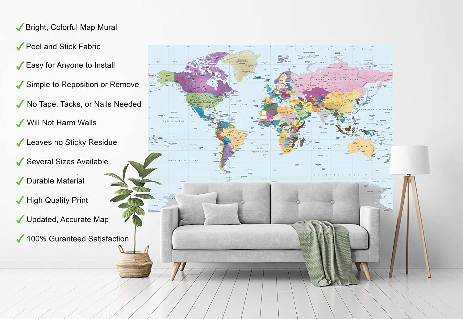 Country Capital Cities City Names Words Decal Wall Art Sticker Picture