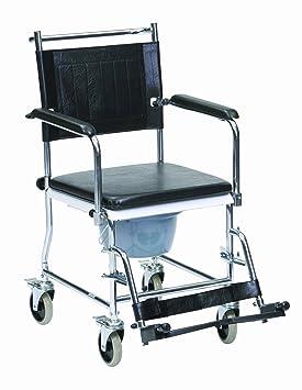 Drive Medical CWC002 Chaise Percee A Roulettes Avec 4 Freins Amazonfr Hygiene Et Soins Du Corps