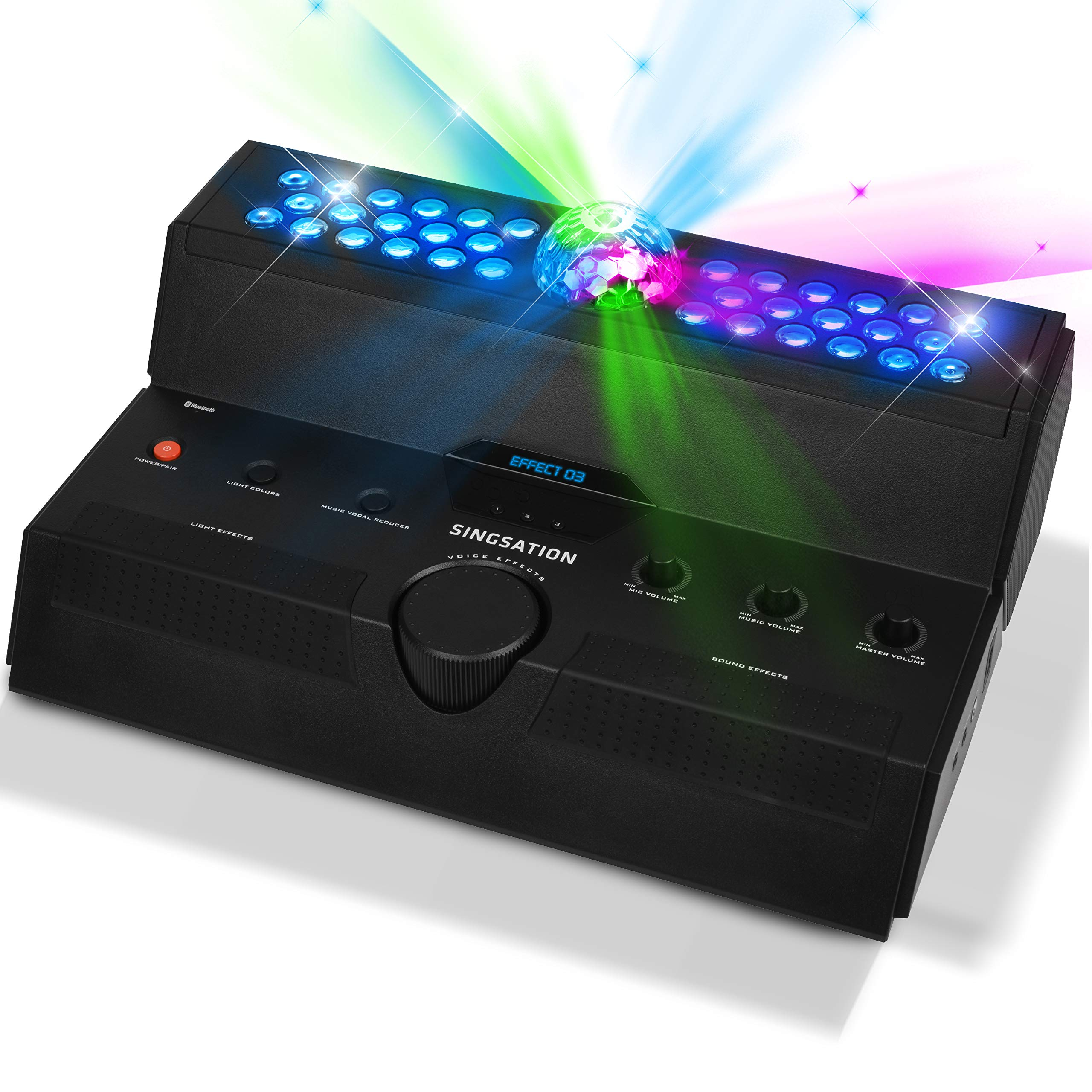 Singsation Karaoke Machine - Mainstage All-In-One Premium Karaoke Party System w/Vocal, Sound and Light Effects, Two Microphones and Sound System by 808 (Image #7)