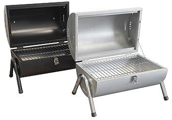 outent® Portátil carbón vegetal Barbacoa Barbacoa BBQ maletín Grill Parrilla plegable Stand Barbacoa Parrilla de