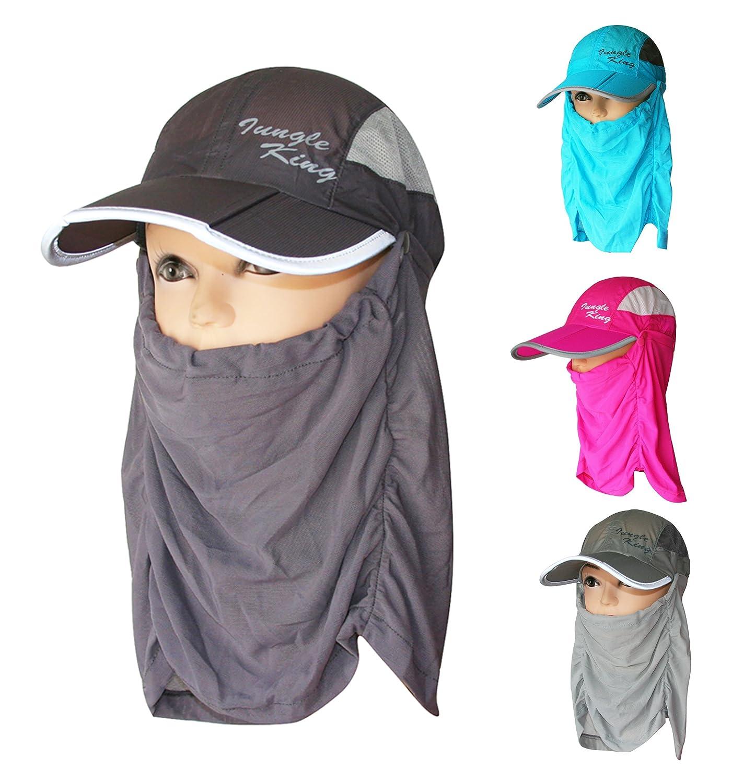 Womens Sun Hats Hiking Fishing Hat Brim Face Cover Sunblock (JKM-01)