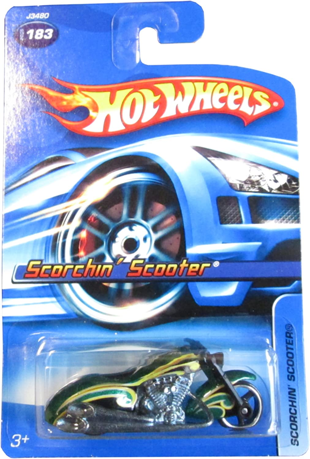 HOT WHEELS 2006 SCORCHIN/' SCOOTER #183 GREEN