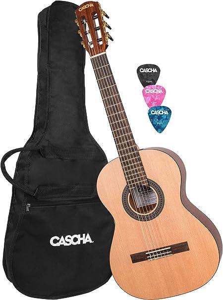 CASCHA Guitarra de concierto 3/4, incluyendo bolsa, guitarra ...