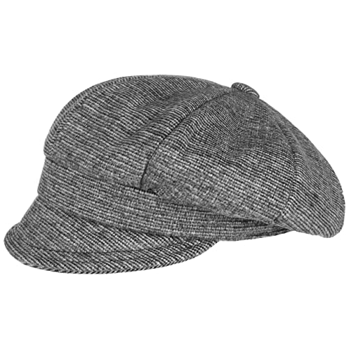 Gorra Newsboy Fine Stripes by Lipodo gorra de mujergorra newsboy (S (55-56 cm) - gris)
