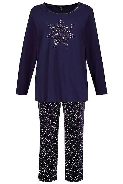 sale retailer 2ac0d 55387 Ulla Popken Große Größen Damen Zweiteiliger Schlafanzug Pyjama Sterne