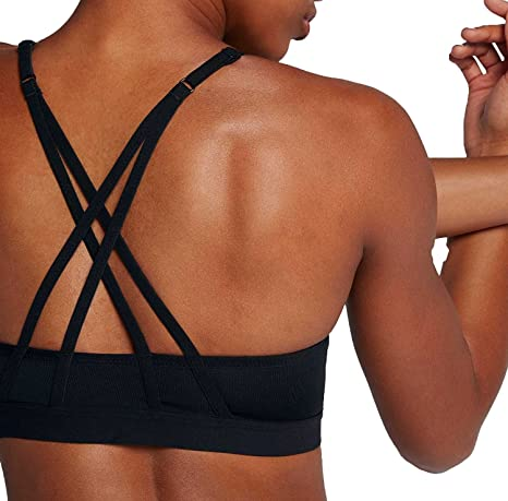 f67a689223f66 Image Unavailable. Image not available for. Color  NIKE Women s Indy Light  Cross-Back Strappy Bra ...