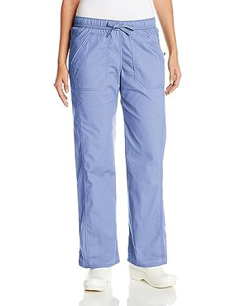 20471ddcedd Dickies Women's EDS Signature Stretch Low-Rise Straight Leg Drawstring Pant,  Ciel Blue,