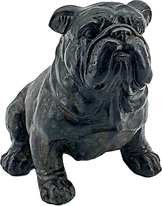 Amazon Com Bellaa 23073 Bulldog Statue Figurine Bust Sculpture 8 Inch Tall Home Kitchen