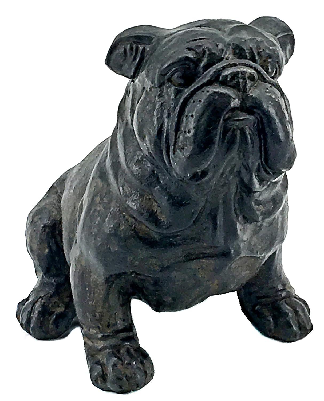 Bellaa 23073 Bulldog Statue Figurine Bust Sculpture 8 Inch Tall