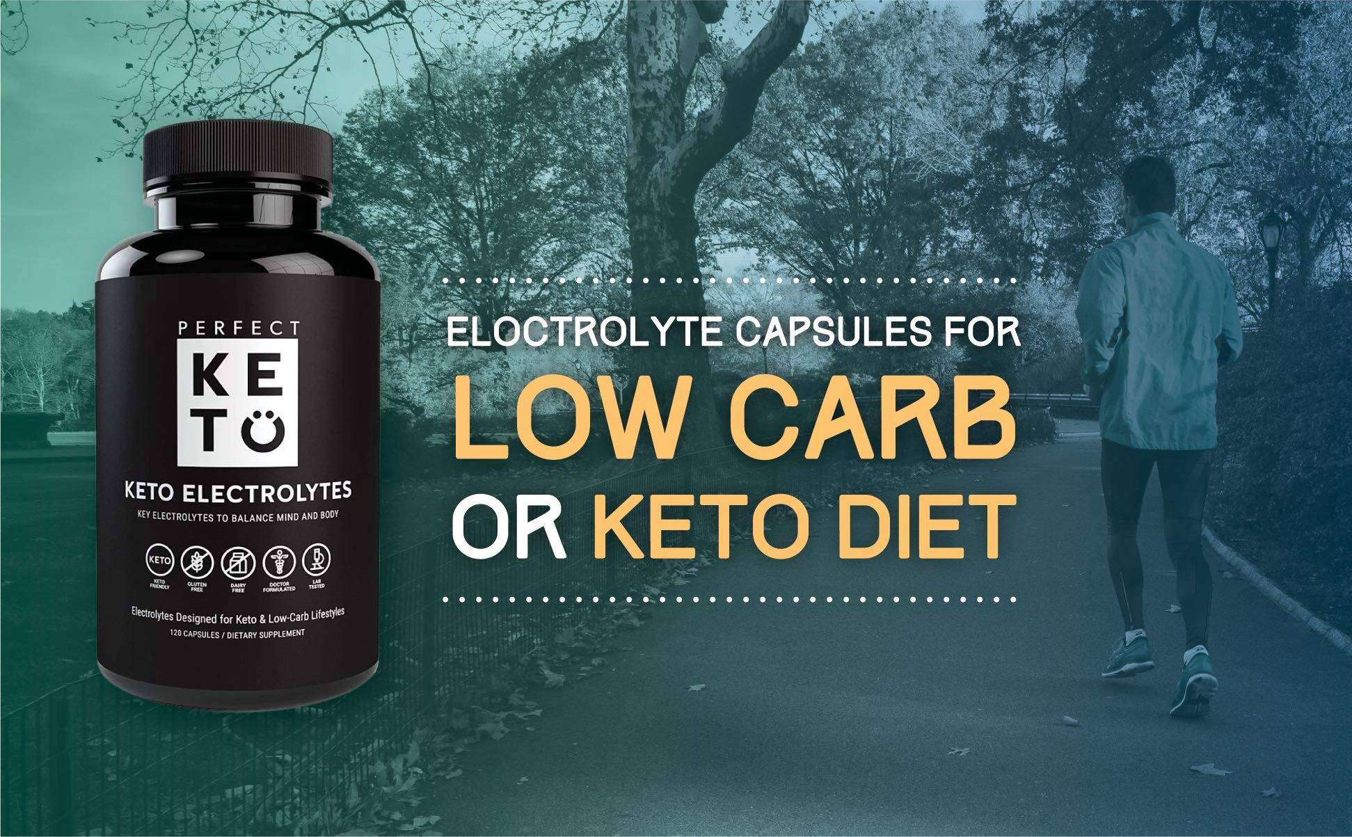 Perfect Keto Flu Electrolyte Supplement: Electrolytes Capsules for Low Carb Diet or Ketogenic Diet to Balance Mind & Body. Energy Supplements, Sodium, Potassium, Magnesium (1 Bottle, 120 Count) by Perfect Keto (Image #5)