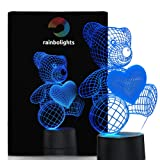Amazon Price History for:Unique Night Light Teddy Bear 7 Color LED Does Not Get Hot By rainbolights Ideal In A Nursery or bedroom a Great Gift Idea