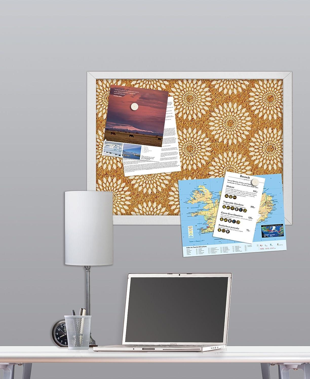 catalina printed cork board decorative wall appliques amazon com