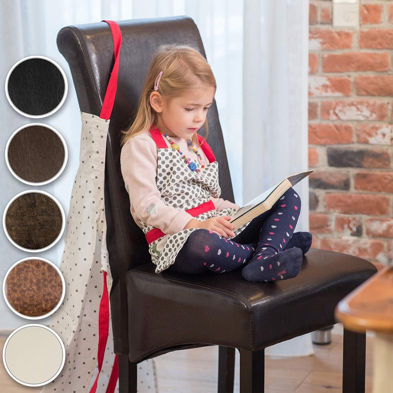 TecTake Chaise de Salle à Manger Hauteur 106 cm chaises Meuble - diverses Couleurs au Choix - (Vieilli Daim | no. 401484) Noir | No. 400554