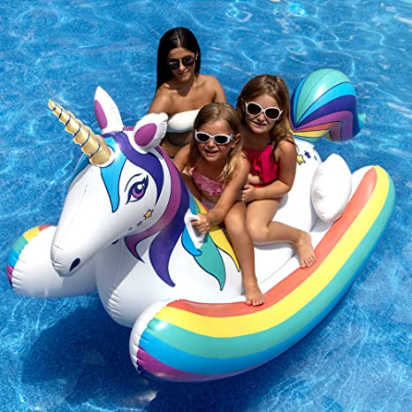 Amazon.com: Swimline 90587 - Cohete hinchable para unicornio ...