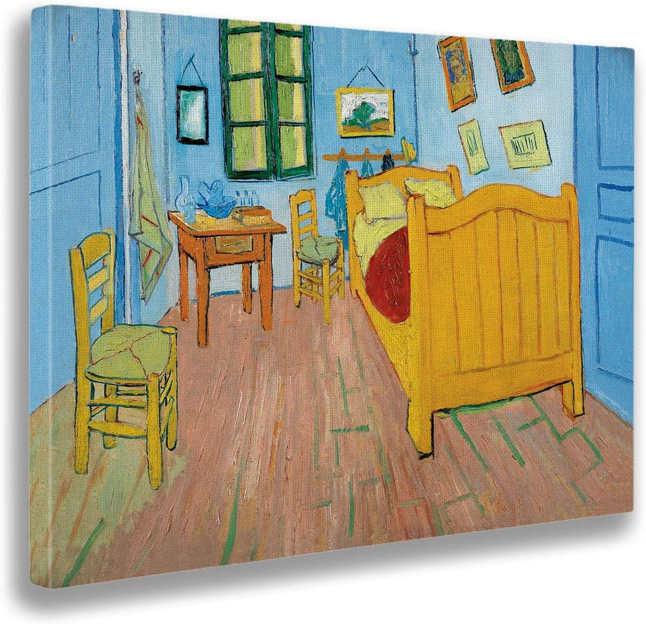 Giallobus - Cuadro - Vincent Van Gogh - La habitación de Vincent en Arles - Estampado en Lienzo - Listo para Colgar - Varios tamaños 70x50 cm