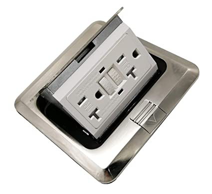 Pop Up Receptacle Floor Outlet Countertop Box With W20 A Gfi Duplex