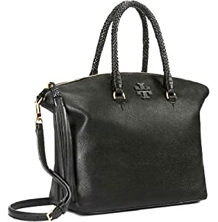 6010a6df9cfd Amazon.com  Tory Burch Women s Tory Burch Mcgraw Black Leather ...