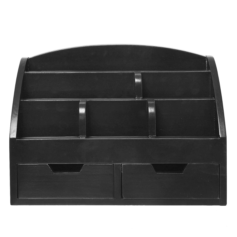 nero Moderno legno desktop a scomparti organizer portaoggetti cassetti per ufficio da scrivania