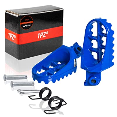 1PZ AP1-Y01 Blue Aluminium Footrest Foot Pegs Rest For Yamaha PW50 PW80 TW200 TTR90 TTR90E Honda XR50R CRF50 CRF70 CRF80 CRF100F Dirt Bike Motocross: Automotive