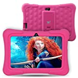 Dragon Touch Y88X Plus 7 pollici Bambini Tablet Quad Core Android PC Tablet Android 5.1 Lollipop IPS Screen 1G RAM 8G ROM Wifi Bluetooth Camera Games Unlocked Version of Kidoz & Google Play Pre-Installed (With Pink Silicone Adjustable Stand Case) [2017 New Model]