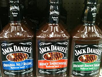 Jack Daniels Barbecue Sauce, 40 Oz. Bottles (Pack of 3 Different Flavors)