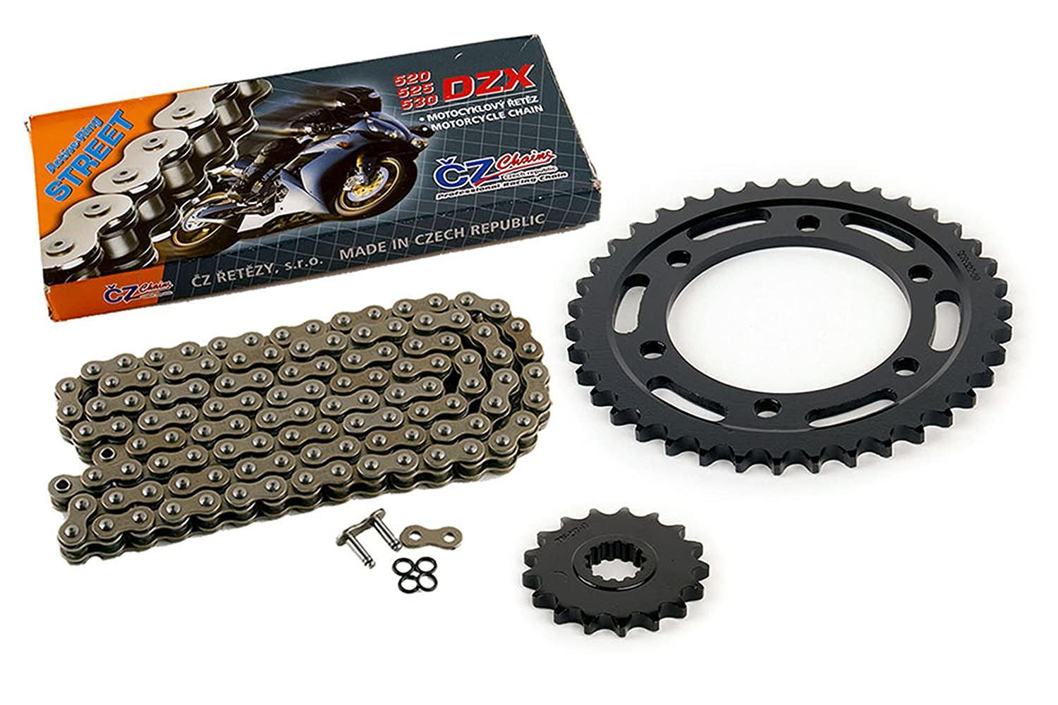 2004 2005 Yamaha YZF-R1 YZF R1 CZ DZX X-Ring Chain and Sprocket 17//39 120L