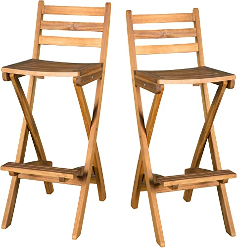 Christopher Knight Home 295797 Atlantic Outdoor Folding Wood Bar Stools
