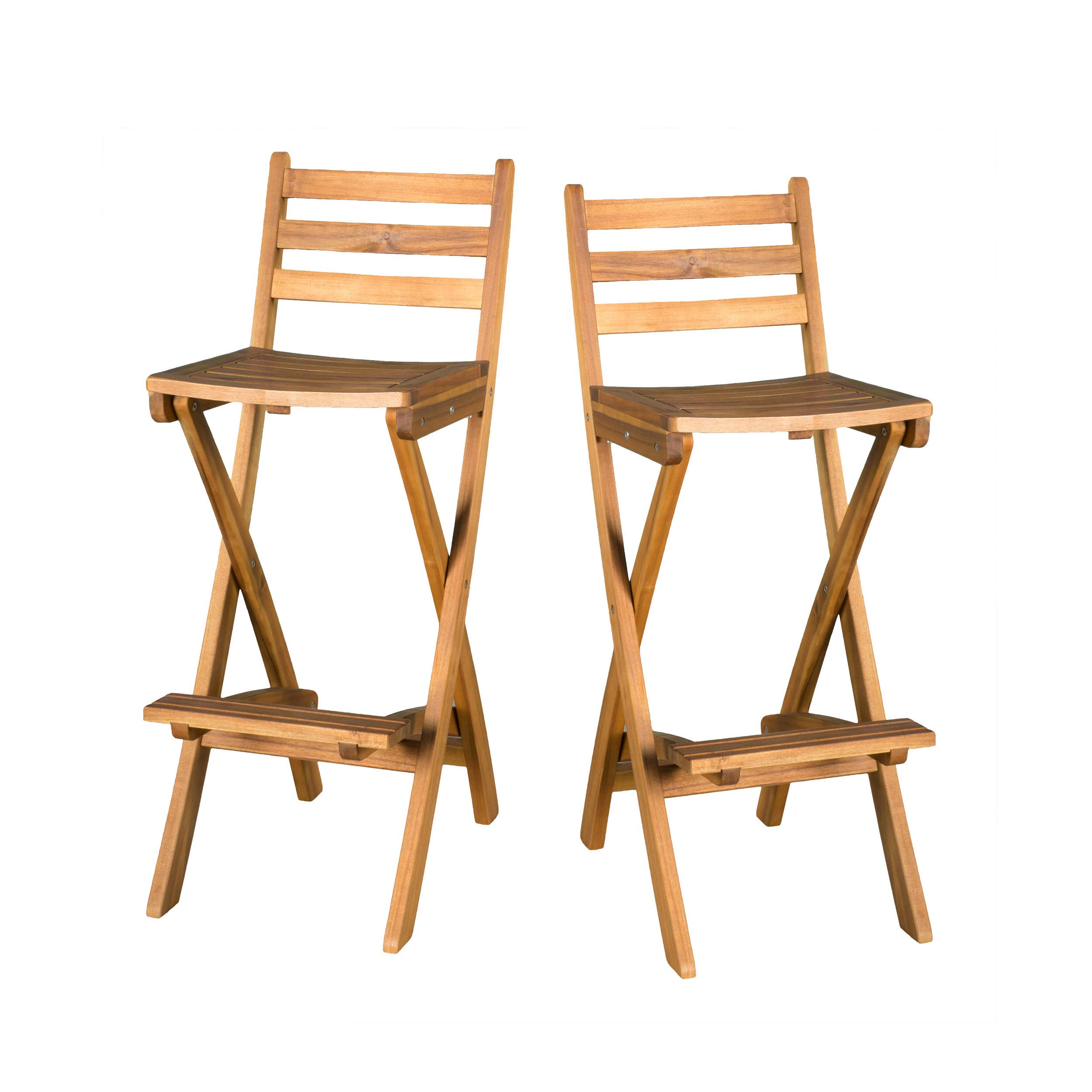 Christopher Knight Home 295797 Atlantic Outdoor Folding Wood Bar Stools by NFusion