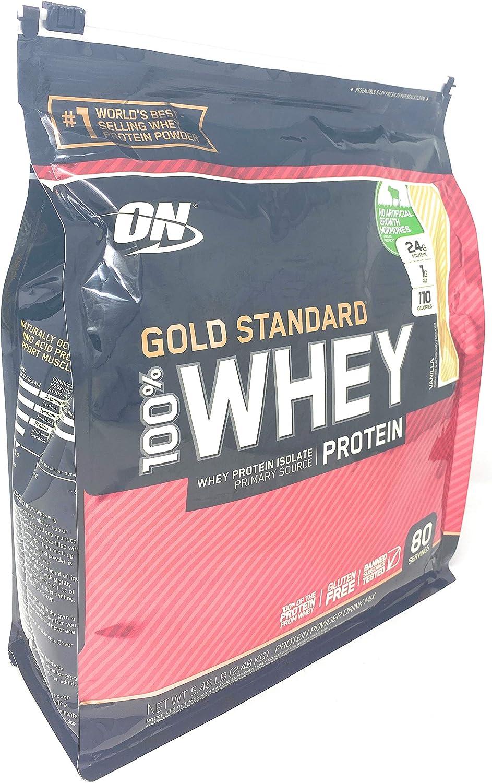 Optimum Nutrition Gold Standard 100% Whey Protein Vanilla Flavor 5.46 lb