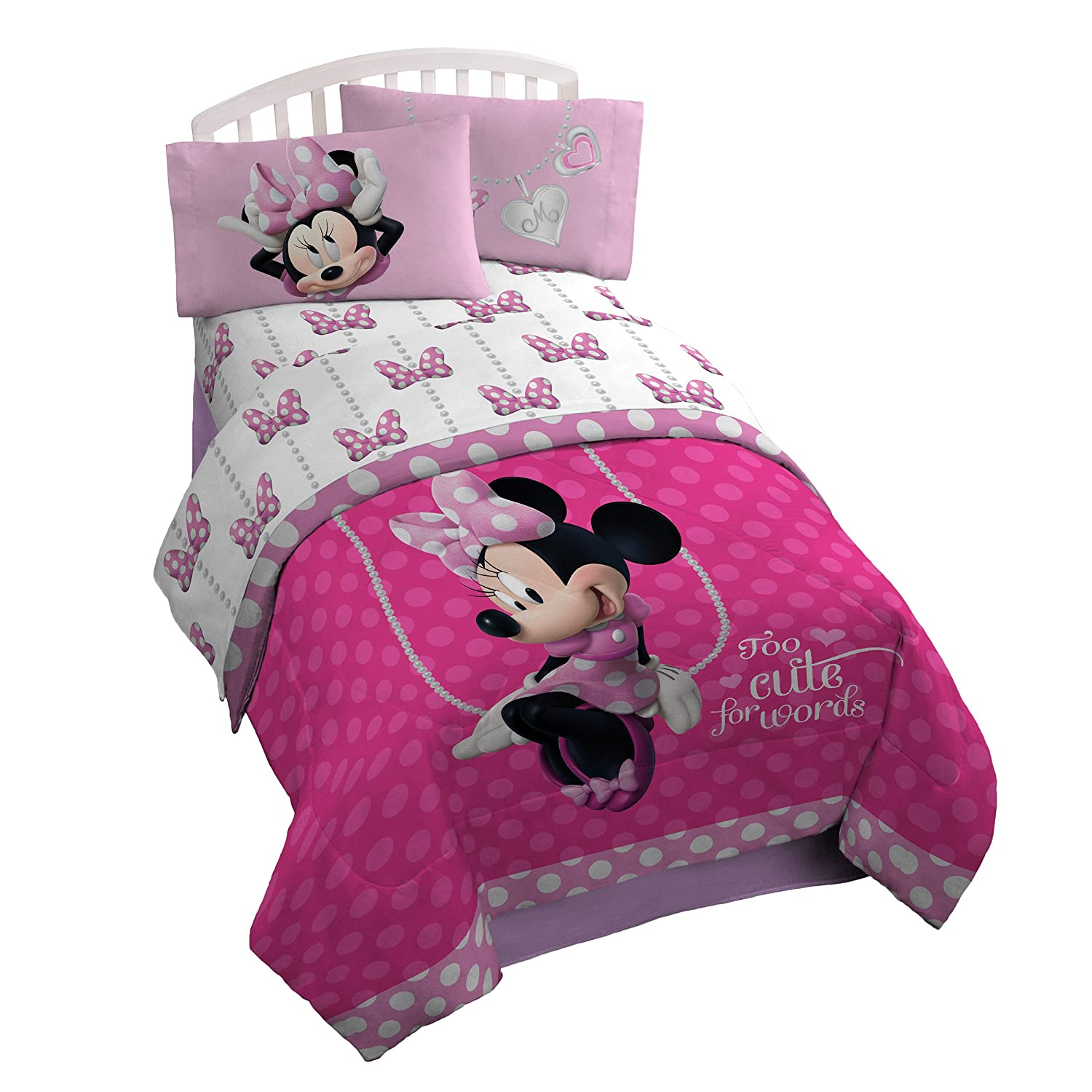 Minnie Mouse Sheet Set Twin Bed Size Girls Room Decor