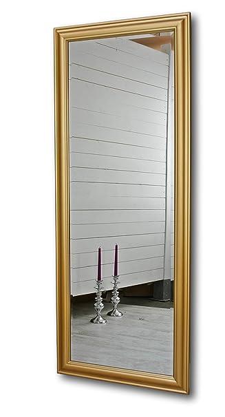 Spiegel Standspiegel elbmöbel 150 x 60cm wandspiegel groß in gold mit schlichtem holz