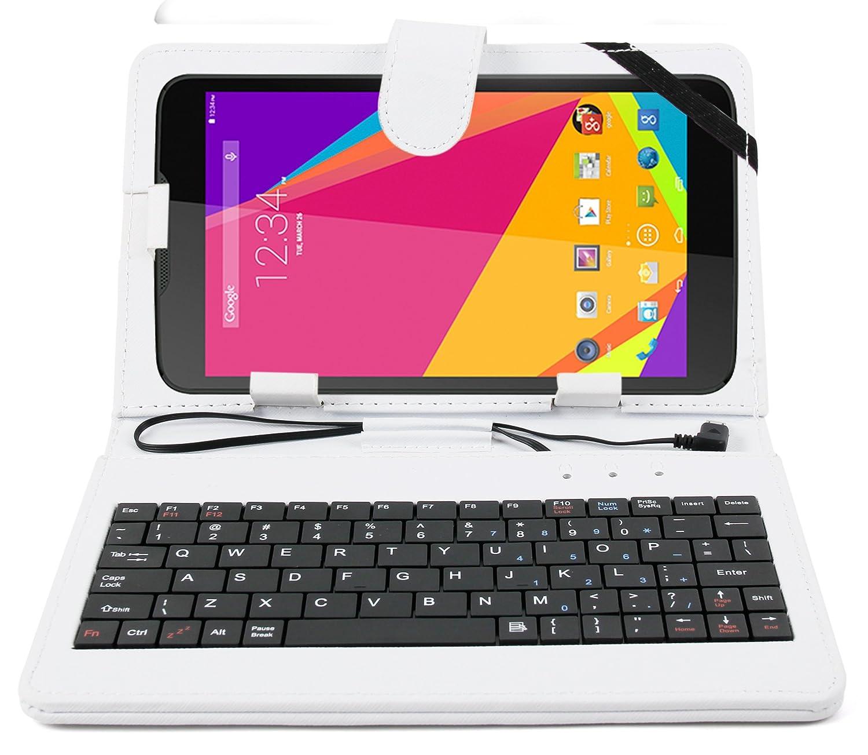 DURAGADGET de 17,78 cm teclado QWERTY funda blanco con ...