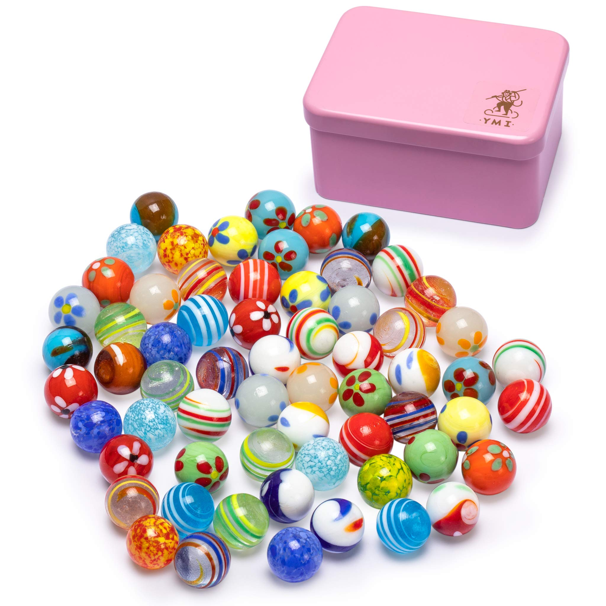 Yellow Mountain Imports Collector's Series Assorted Marbles Set in Tin Box, Galactic by Yellow Mountain Imports