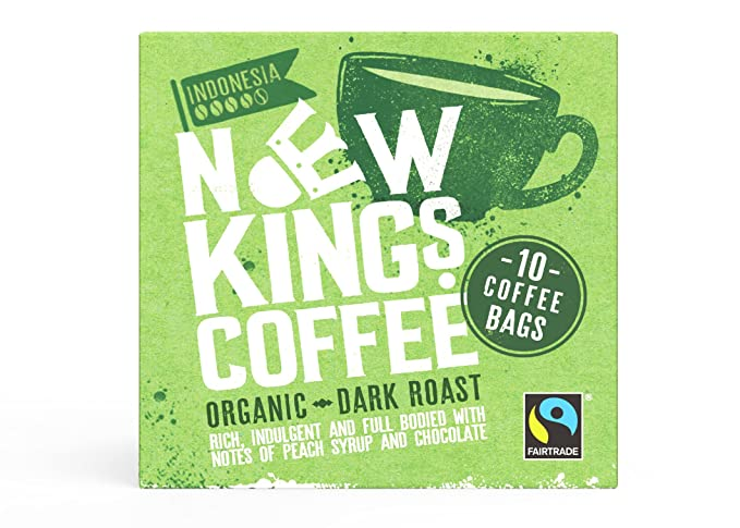 Fresh Ground Coffee Bags Fairtrade Dark Roast Sumatra Indonesia Box Of 10 Individually Wrapped Coffee Bags Great For Home Office