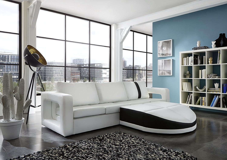 Sam® sofa garnitur weiß doccia schwarzer streifen 270 x 200 cm