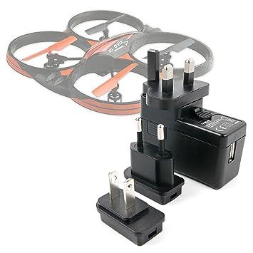 DURAGADGET Kit De Adaptadores con Cargador para Dron LAMASTON X5C ...