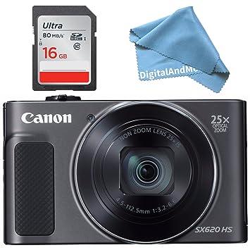 Amazon.com: Canon PowerShot SX620 HS Digital cámara (Negro ...