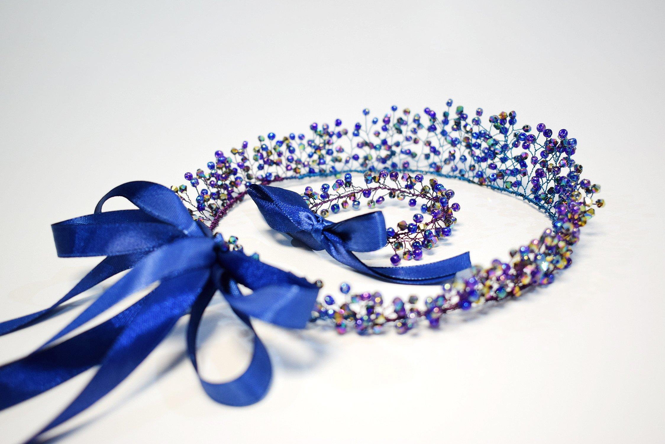 Bridal Crown and Bracelet Set